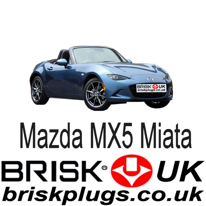Mazda MX5 ND 1.5 2.0 SkyActiv 15-ON Brisk Racing Spark Plugs