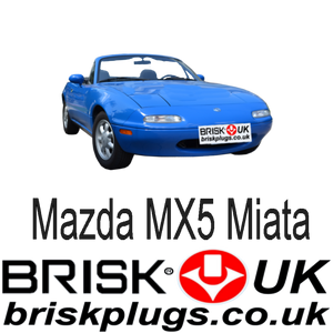 Mazda MX5 Miata Performance Spark Plugs Brisk Racing Tuning more power