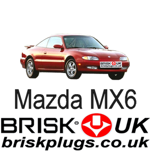 Mazda MX6 brisk spark plugs racing tuning lpg cng lng performance ngk denso