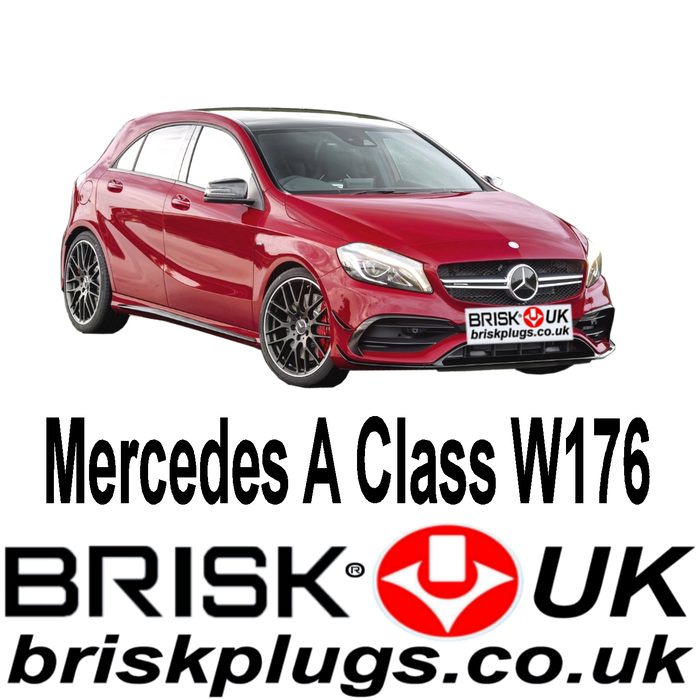 Mercedes A Class W176 1.6 2.0 AMG A45 12-18 Brisk Upgrade Spark Plugs