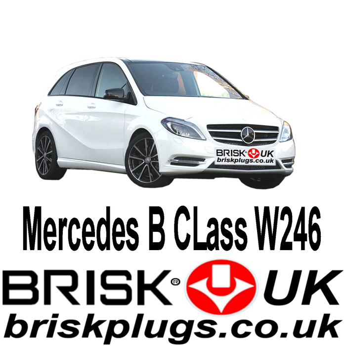 Mercedes B Class W246 1.6 2.0 AMG Turbo 12-18 Brisk Upgrade Spark Plugs