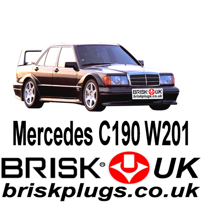 Mercedes 190 W201 1.8 2.0 2.3 2.5 2.6 Cosworth 82-94 Brisk Spark Plugs