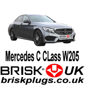 Mercedes C W205 C63 C43 AMG Spark Plugs Brisk Racing Tuning more power Kompressor NGK Bosch