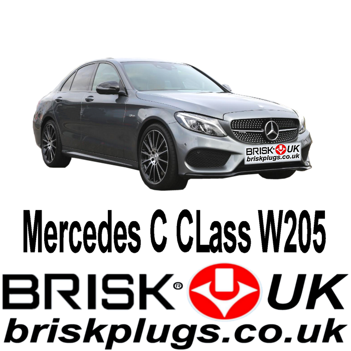 Mercedes C Class W205 1.6 2.0 AMG Turbo 14-ON Brisk Upgrade Spark Plugs