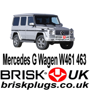 Mercedes G Wagen W461 W463 G55 G63 Brisk Spark Plugs Tuning 4x4 more power Champion Bosch AD PNG