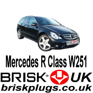 Mercedes R Class W251 R350 R500 Spark Plugs Recommended Brisk Ignition parts Bosch NGK