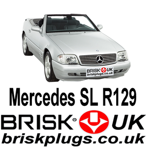 Mercedes SL R129 Spark Plugs Brisk Performance upgrade equivalent to Bosch NGK Denso