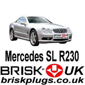 Mercedes SL R230 Brisk Spark Plugs Tuning Performance power upgrade AMG Kompressor