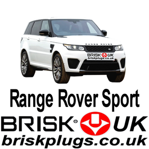 Range Rover Sport 3.0 5.0 Supercharged V8 V6 13-On Brisk Spark Plugs