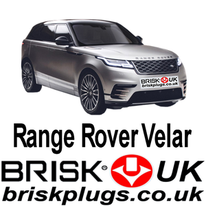 Range Rover Velar Petrol Brisk Spark Plugs more power tuning upgrade SVR