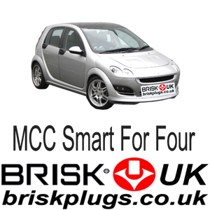 Smart For Four Brisk Racing Spark Plugs Tuning Brabus more power cleaner emissions