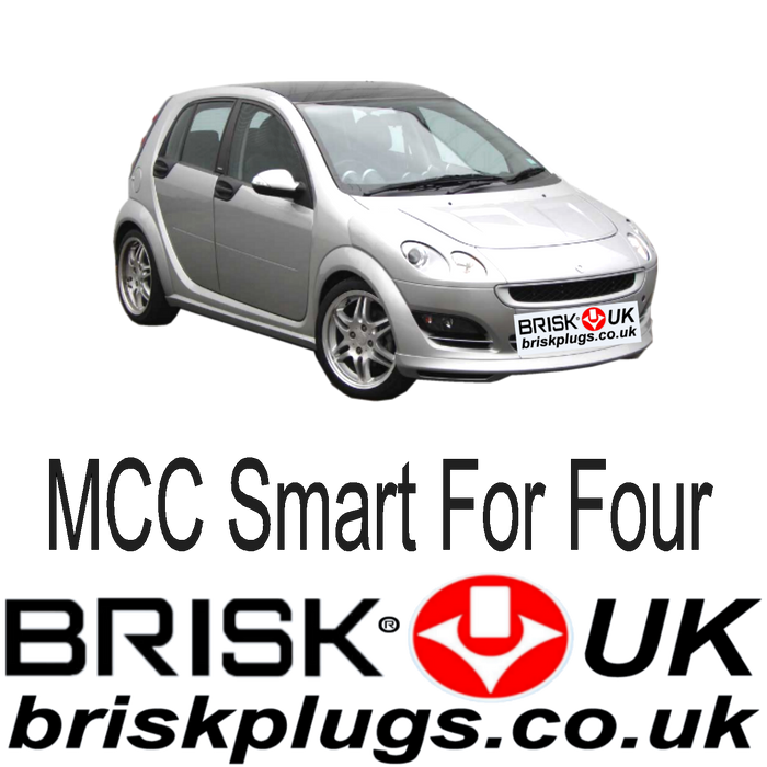 MCC Smart For Four 1.1 1.3 1.5 Turbo Brabus 03-06 Brisk Tuning Spark Plugs