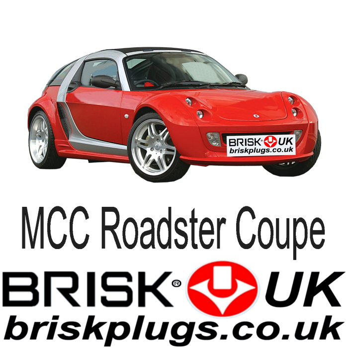 Smart Roadster Coupe 0.7 Turbo Brabus 03-07 Brisk Racing Spark Plugs