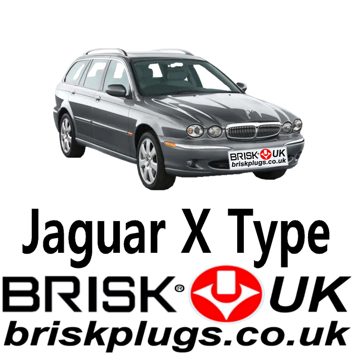 Jaguar X Type 2.1 2.5 3.0 01-10 Performance Spark Plugs Brisk UK