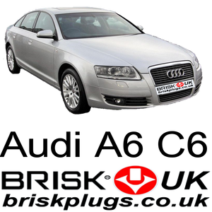 audi a6 c6, spark plugs, Brisk plugs for, s6, rs6, v10, turbo, tfsi
