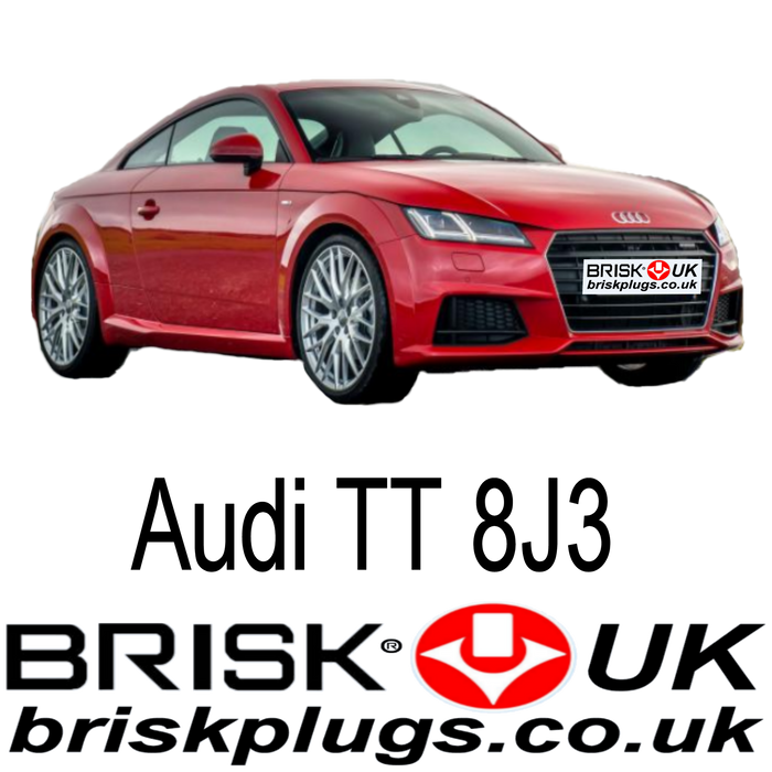 Audi TT TFSI RS Spark Plugs 1.8 2.0 2.5 06 - 14 Brisk Racing Ignition