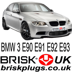 BMW 3 series spark plugs Brisk racing parts E90 E91 E92 E93 S65B40