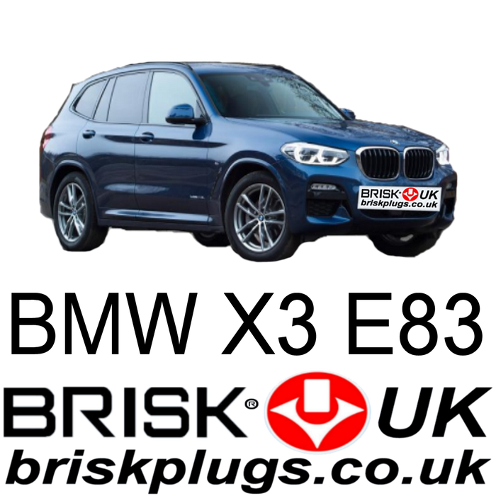 BMW X3 E83 2.0 2.5 3.0 Brisk Spark Plugs 04-14 Upgrade LPG