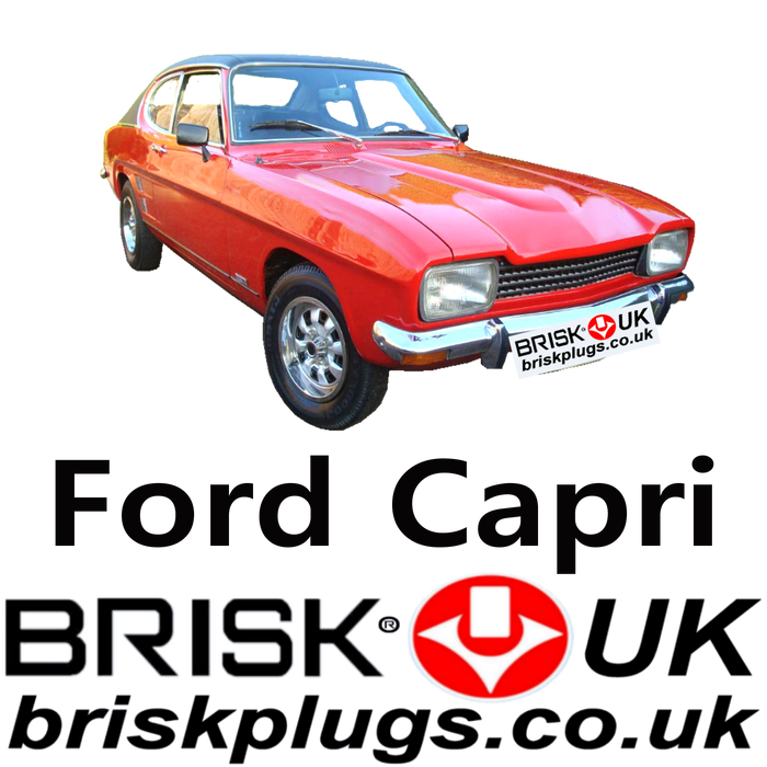 Ford Capri Brisk Performance Spark Plugs 1.3 1.5 1.6 1.7 2.0 2.3 2.6 3.0 68-78