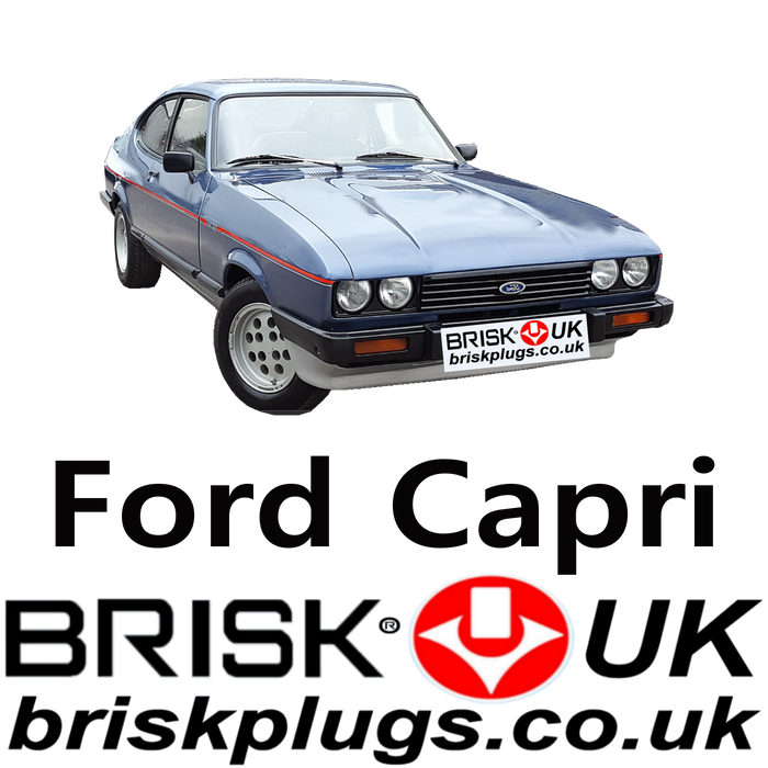 Ford Capri Mk3 Brisk Performance Spark Plugs 1.3 1.6 2.0 2.3 2.6 2.8 3.0 78-87