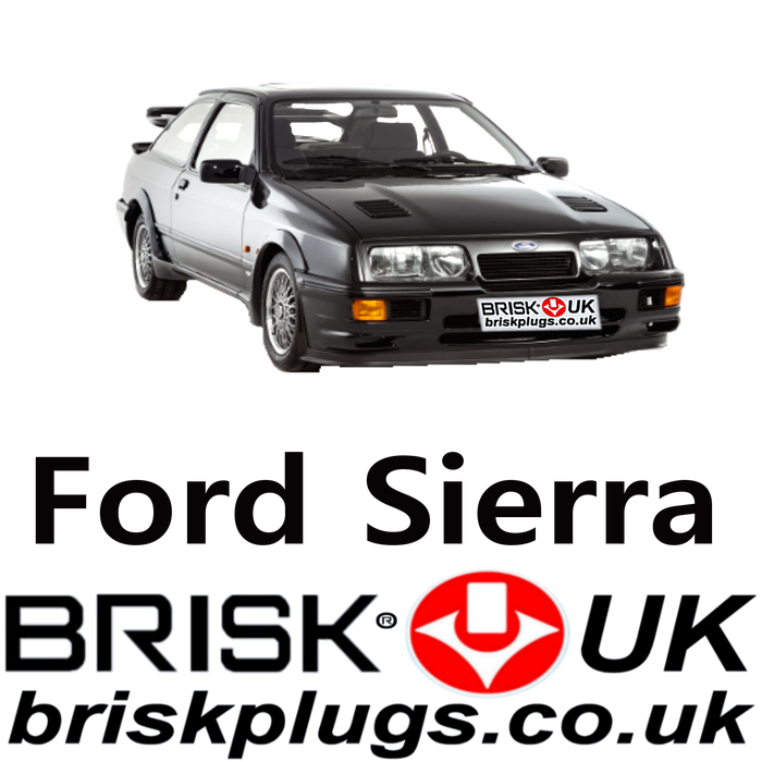 Ford Sierra Brisk Spark Plugs 2.0 2.3 2.8  XR4x4 RS Cosworth 82-88