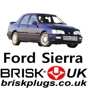 Ford Sierra 2 Spark Plugs 1.6 1.8 2.0 2.8 2.9 XR4x4 RS Cosworth 88-94 Brisk UK