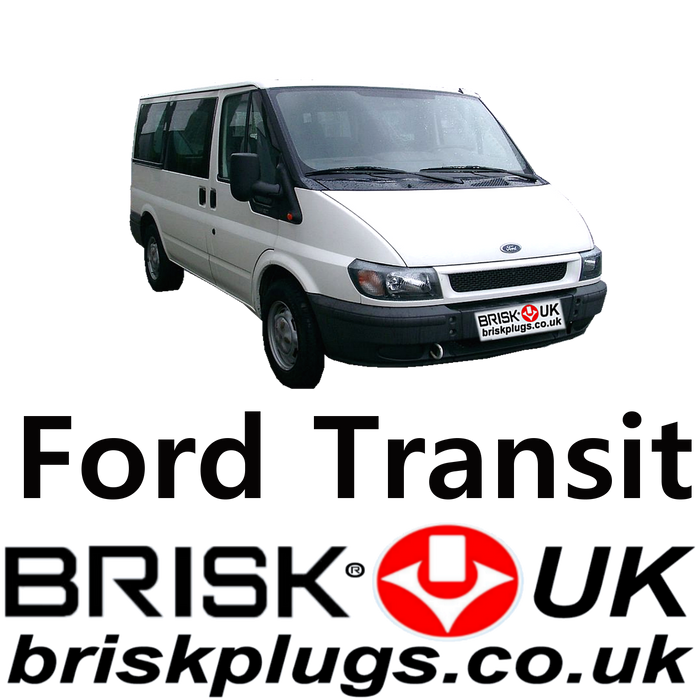 Ford Transit 4 Brisk Spark Plugs LPG CNG Methane 2.3 00-06