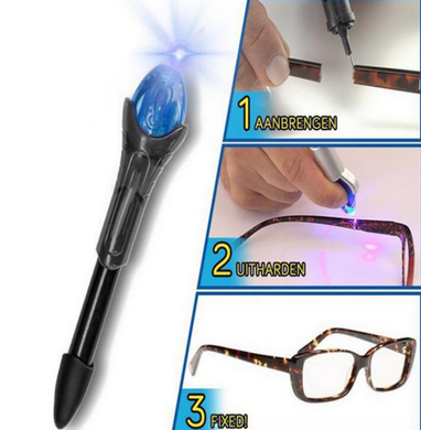 5 Second Quick Fix Liquid Glue Pen Uv Light Repair Tool
