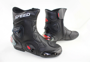 Riding Tribe Leather Motorcycle Boots