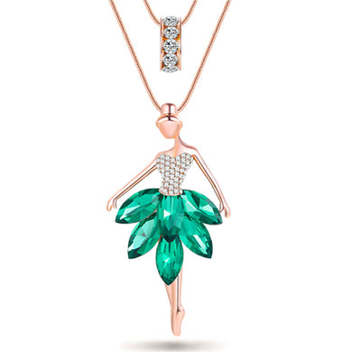 Maxi Alloy Enamel Dance BALLET Girl  Necklace Chain