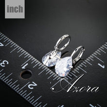 Load image into Gallery viewer, Design Pear Cut Clear Cubic Zirconia Water Drop Earrings TE0158