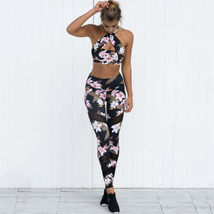 New Women Floral Printing Yoga Sets