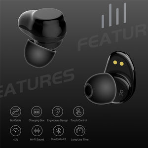 Bluetooth Touch Control Hifi Earphone with Mic