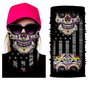 Seamless Skull Skeleton Joker Clown Balaclava Tube Neck Face Mask