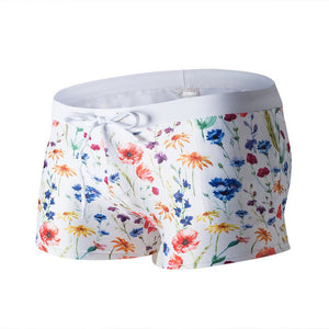 Double Pocket Printing Men Swimwear