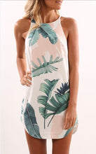 Load image into Gallery viewer, Fashion Palm Leaf Print Summer Dress