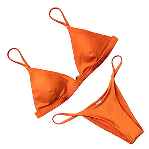 Brazilian Solid Bikinis Set Beachwear
