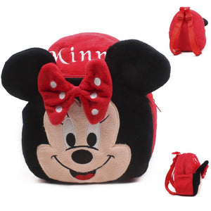 Cartoon design Mickey Minnie plush backpack for kids