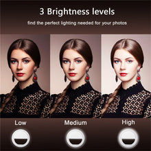 Load image into Gallery viewer, Portable Camera Enhancing Photography Selfie Ring Light for Smartphone