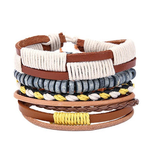Mens Street style Leather Bracelets