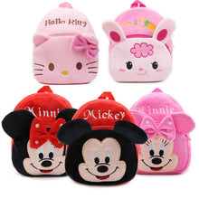 Load image into Gallery viewer, Cartoon design Mickey Minnie plush backpack for kids