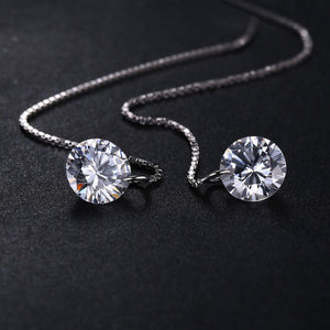 JewelryPalace Round Fashion 8mm 5.0ct Linked Earrings