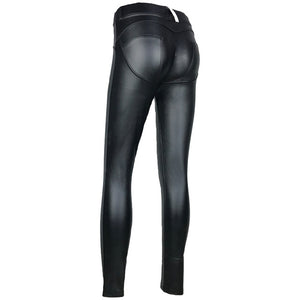 Leather Low Waist Hip Push Up Pants