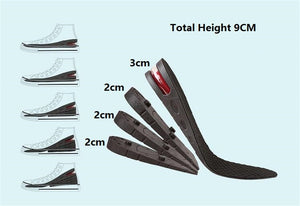 Adjustable Shoe Heel 3-9cm Height Increase Insole