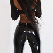 Load image into Gallery viewer, Spring Lady Back Zipper Leather Pants