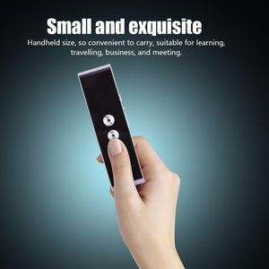 Portable Smart Voice Translator Two-Way Real Time
