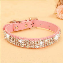 Load image into Gallery viewer, Bling Rhinestone PU Leather Crystal Diamond Puppy Collar