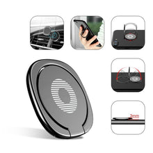 Load image into Gallery viewer, Metal Finger Ring Stand Magnetic Car Phone Holder