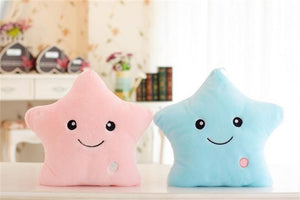 Led Light, Colorful Stars, Love Shape Soft Plush Pillow Toys