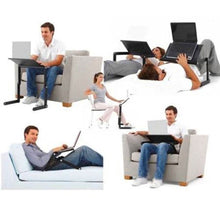 Load image into Gallery viewer, Portable Adjustable Aluminum Laptop Desk With Mouse Pad